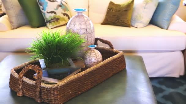 luxusní interiér amerického obývacího pokoje