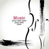 grunge výkresu violoncello s rukopis