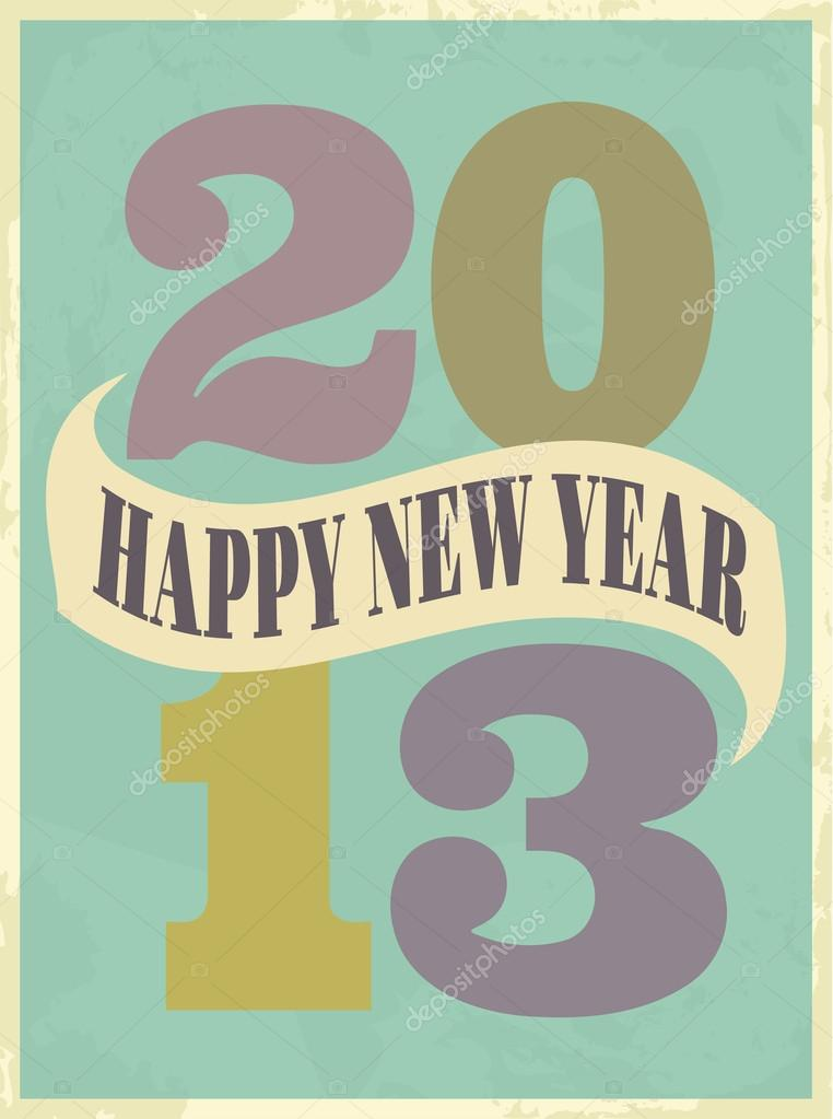 vintage new year card stock vector