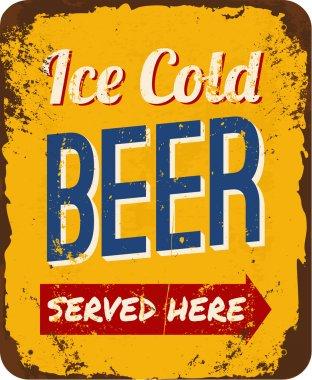 Vintage Beer Tin Sign