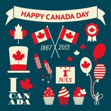 Canada Day Design Elements Set