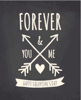 Valentine's Day Chalkboard Design