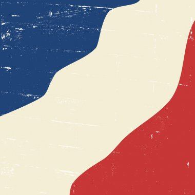 Abstract Vintage French Flag