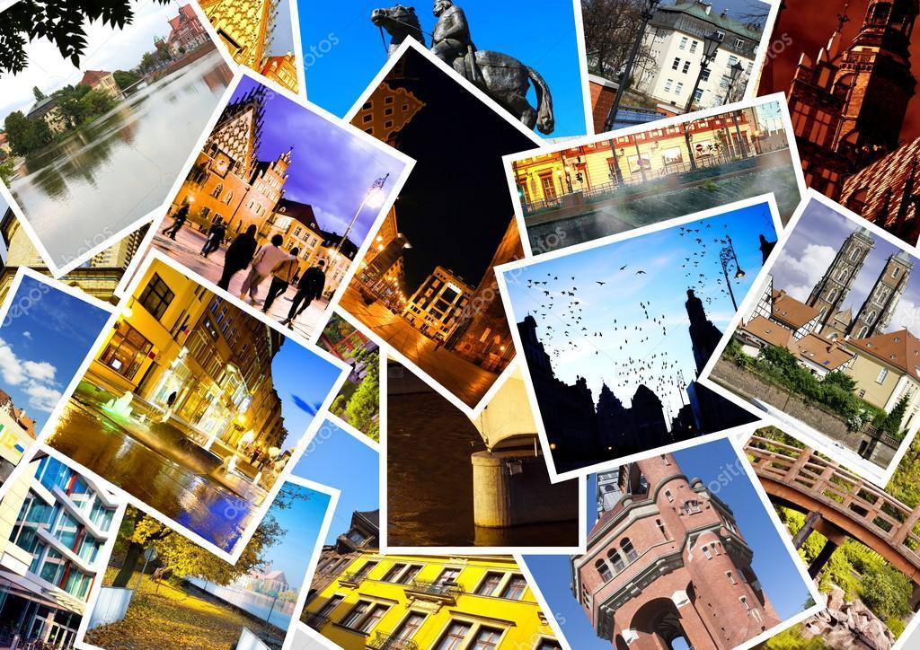 Примеры фотоколлаж про город