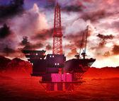piattaforma di impianto di perforazione petrolifera