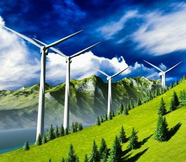 Wind turbines onshore