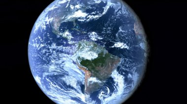 Americas seen from space