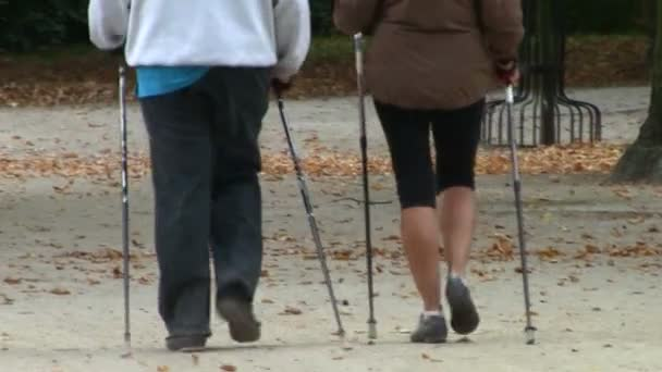 Nordic walking - aktivní pár cvičení venkovní