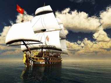 Pirate brigantine