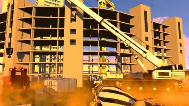 staveniště - abstraktní barevné ilustrace