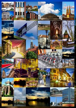 European city collage