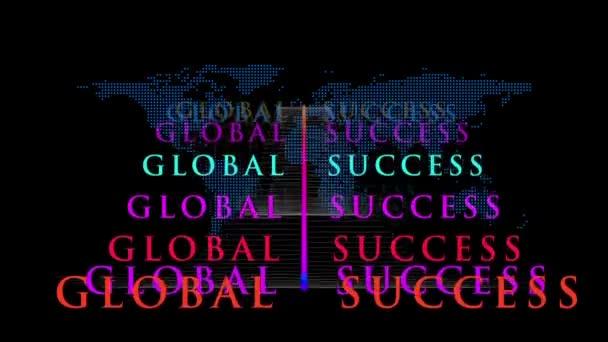 Cool Wereldwijd Succes Concept Bewegende Beelden