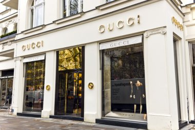 Gucci store in Berlin Germany.