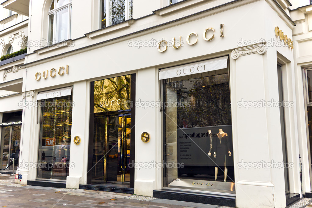 94a37826d09 The fashion company Gucci is the biggest-selling Italian brand in the  world. Gucci s elegant store in the central of Berlin. November 8