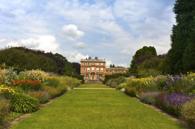 English stately home and gardens.