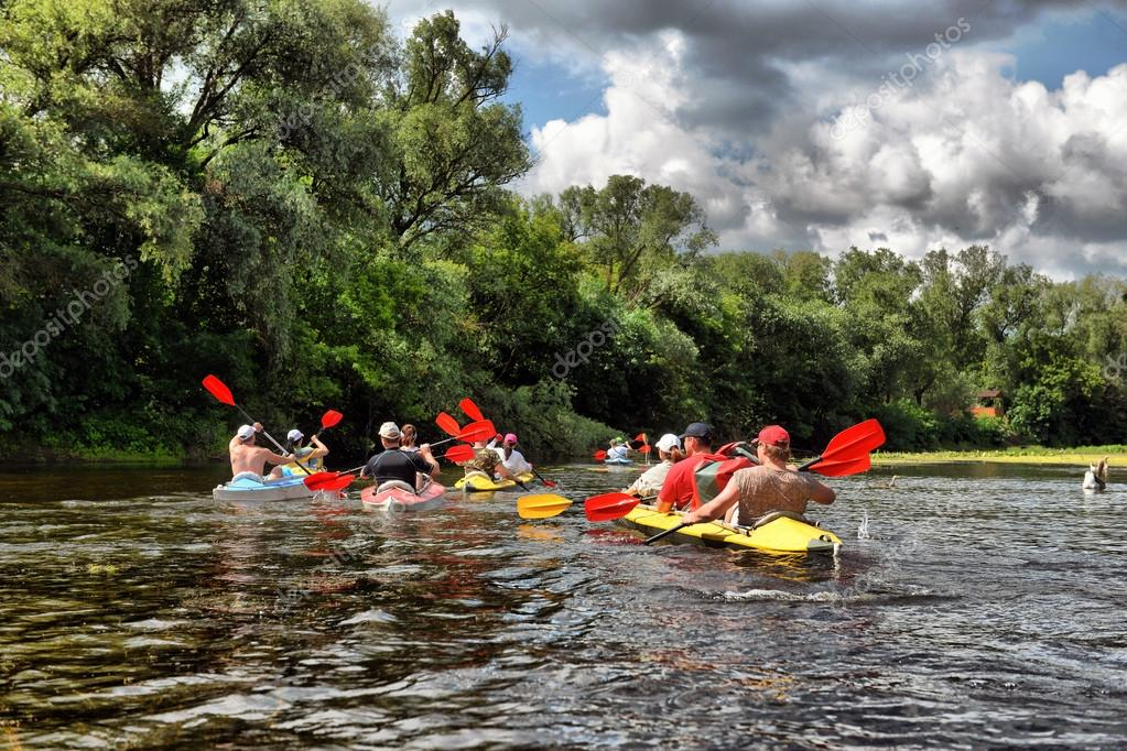 River, Sula,  Ukraine, river rafting kayaking editorial photo