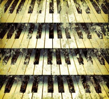 Background piano keys