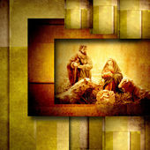 náboženské vánoční přání nativiy scéna