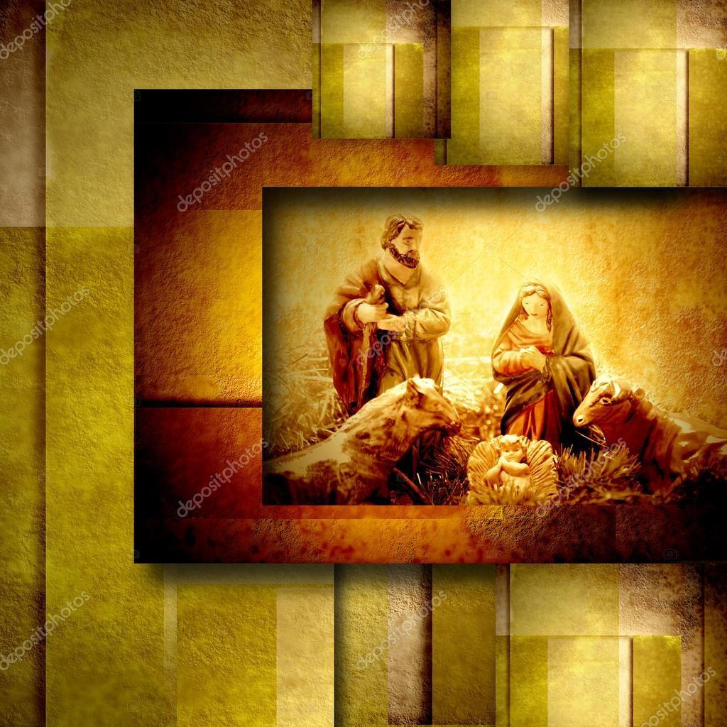 Religious Christmas Cards Nativiy Scene Stock Photo Risia 35268645