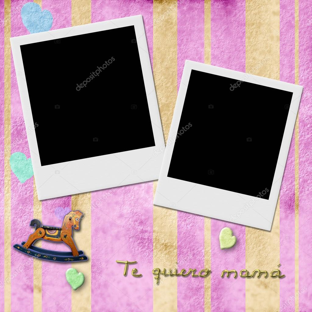 te quiero mamá en español, dos marco de fotos al instante — Fotos de ...