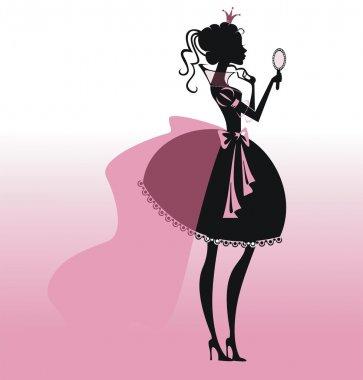 Princess silhouette with mirror.