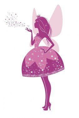 Silhouette of a beautiful princess