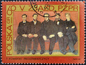POLAND - CIRCA 1968: stamp printed in Poland, shows Party members by F. Kowarski, circa 1968.