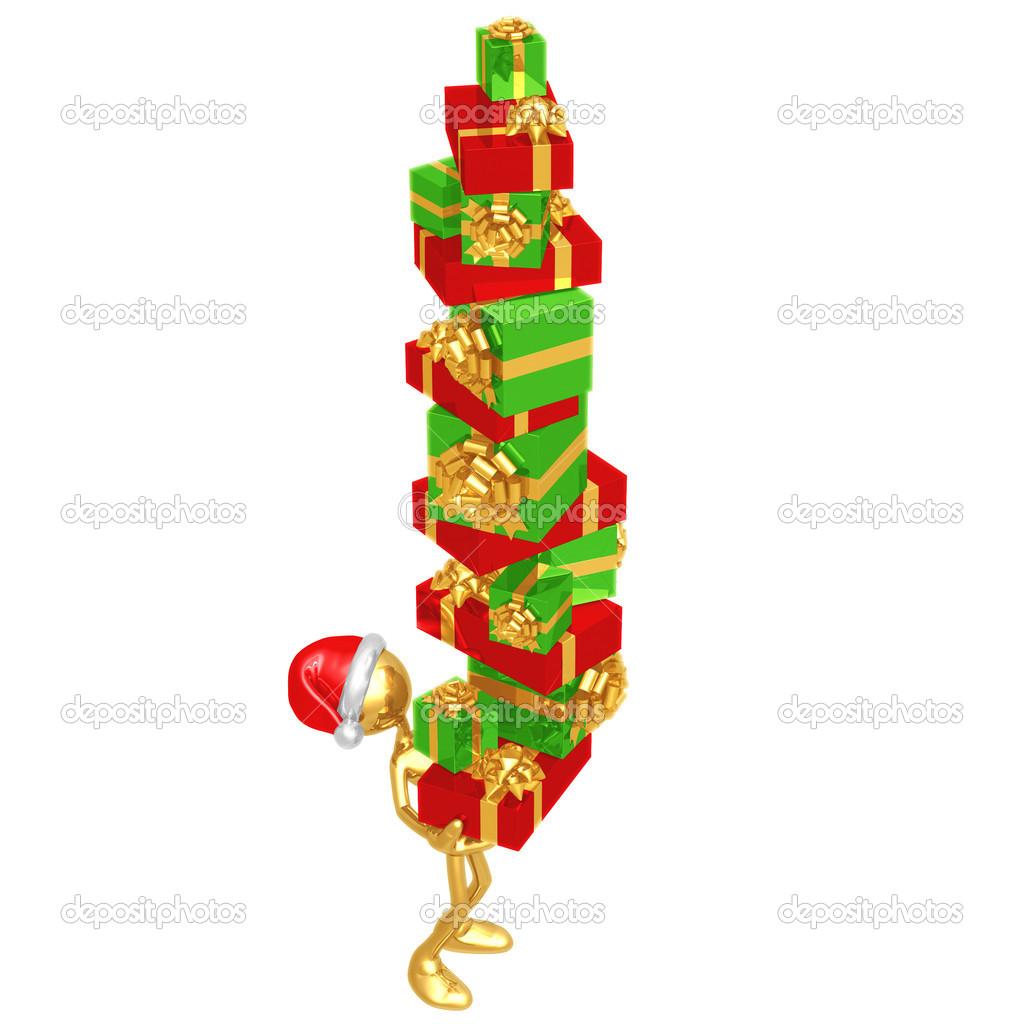 Giant Stack Of Christmas Presents — Stock Photo © LuMaxArt #12278781