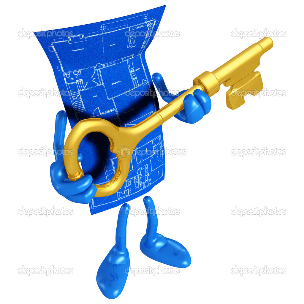 Home construction blueprint with gold key stock photo lumaxart home construction blueprint with gold key stock photo malvernweather Images