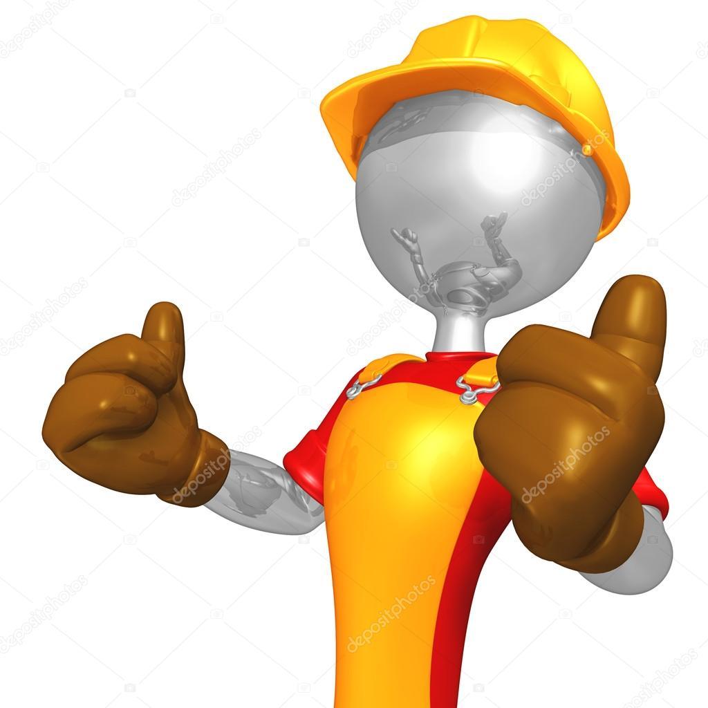 carácter de trabajador de construcción 3D — Fotos de Stock ...
