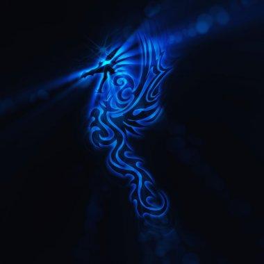 Dragon illustration on a black background