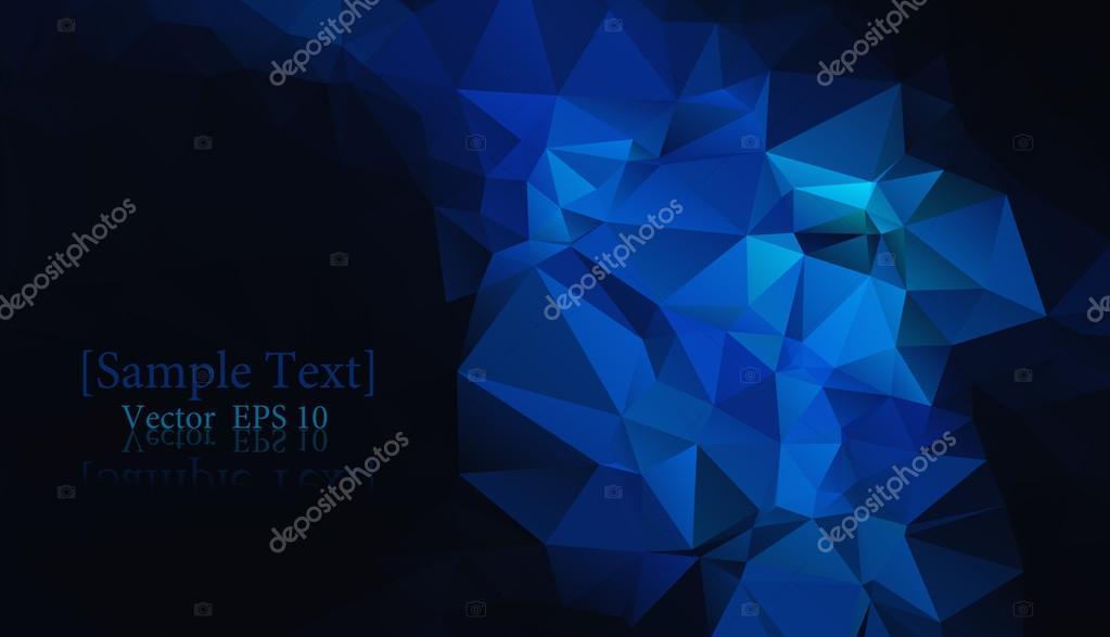 Sfondo Geometrico Blu Nero Vettoriale Eps 10 Vettoriali Stock
