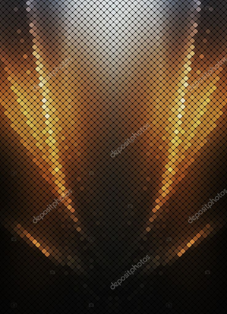 Multicolor gold abstract lights disco background square pixel mo