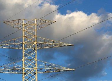 pylon under clouds