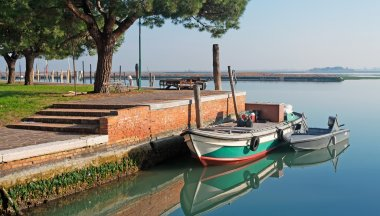 Burano boats in the lagoon