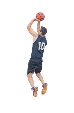 jump shot on white