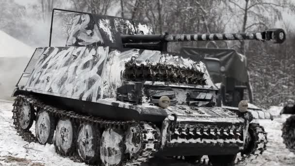 German Tank In Camouflage Coloring Stock Video C Mrivserg 42728965