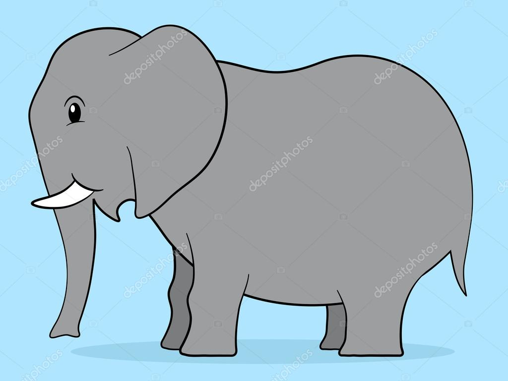 happy cartoon elephant u2014 stock vector a n 18103219