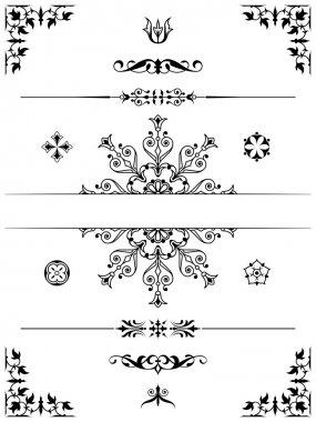 Set of ornament dividers design elements corners stock vector