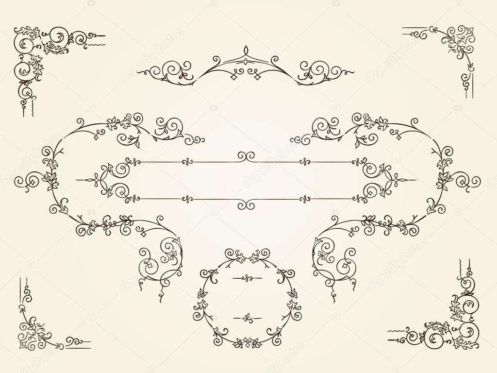 Marcos ornamentales frontera rectangular vintage — Vector de stock ...