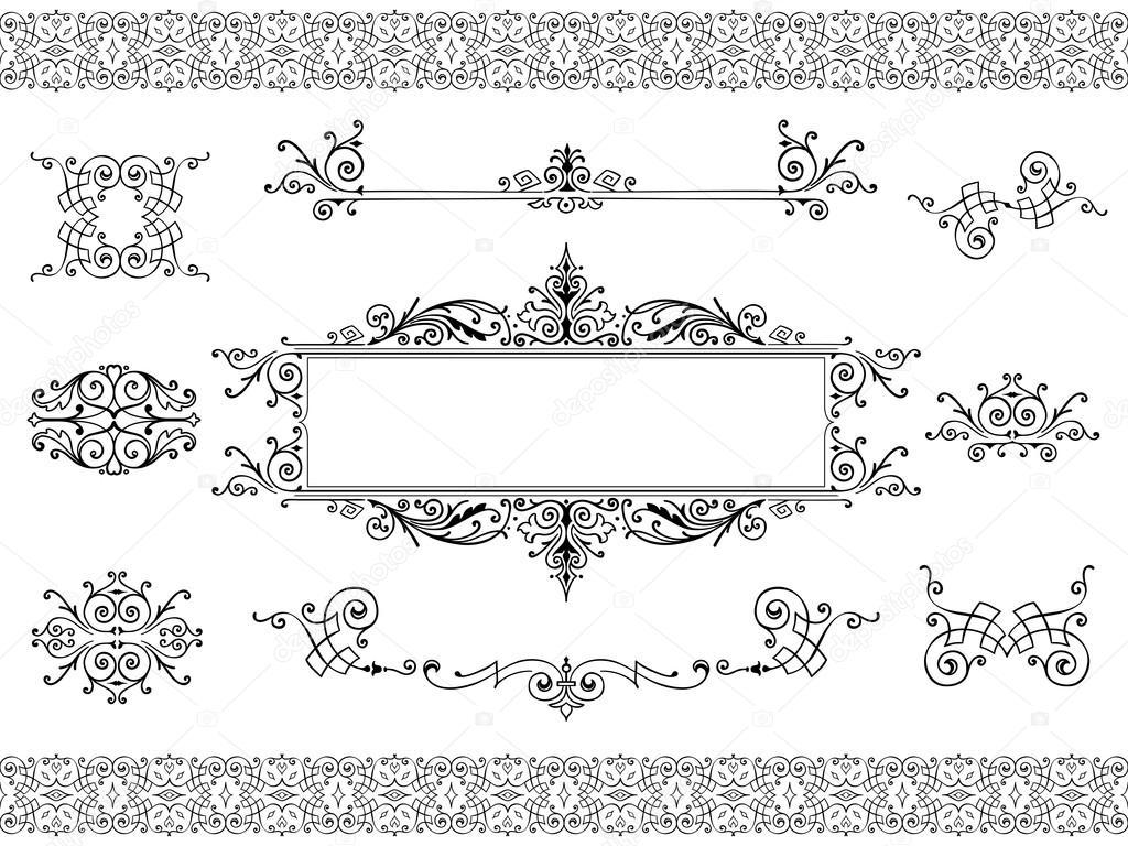 Elementi di design vintage ornamento vettoriali stock for Elementi di design