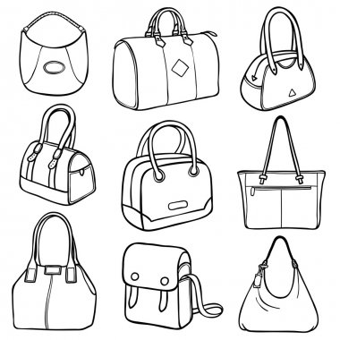Collection of fashion handbags
