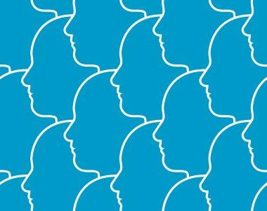 Seamless pattern of heads