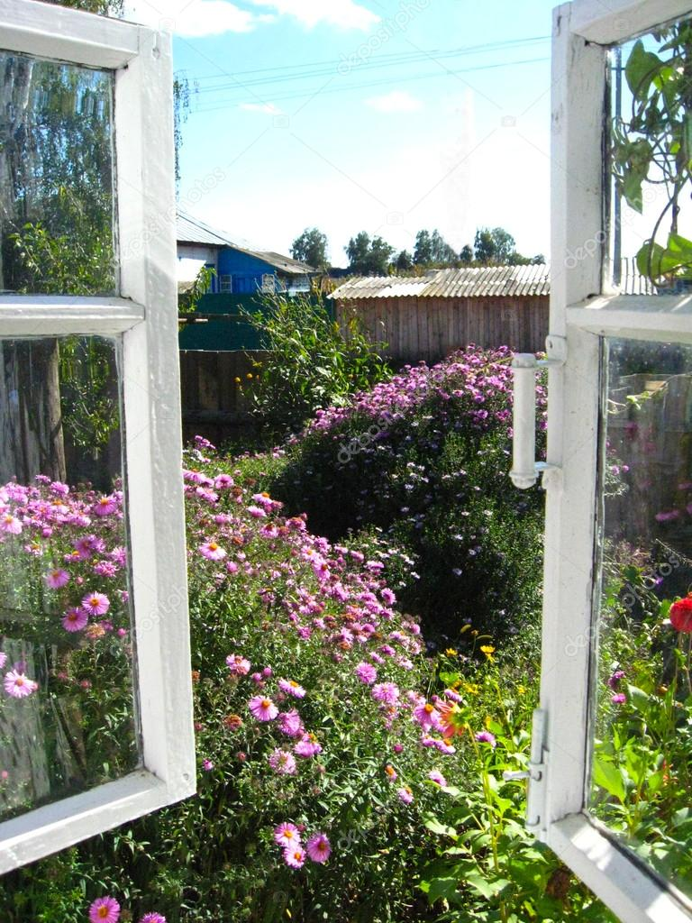 Window in a garden