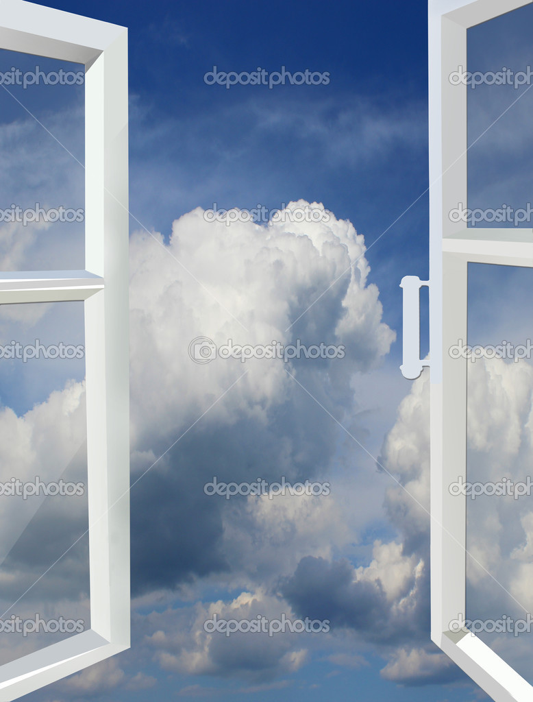 Opened window to the heaven