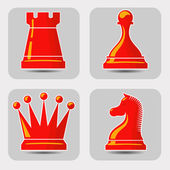 Photo Vector icons with chess