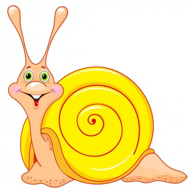 Cute cartoon snail