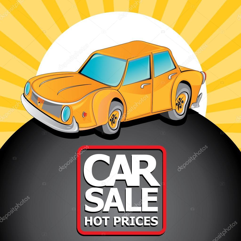 plantilla de diseño vectorial auto venta con coche — Archivo ...