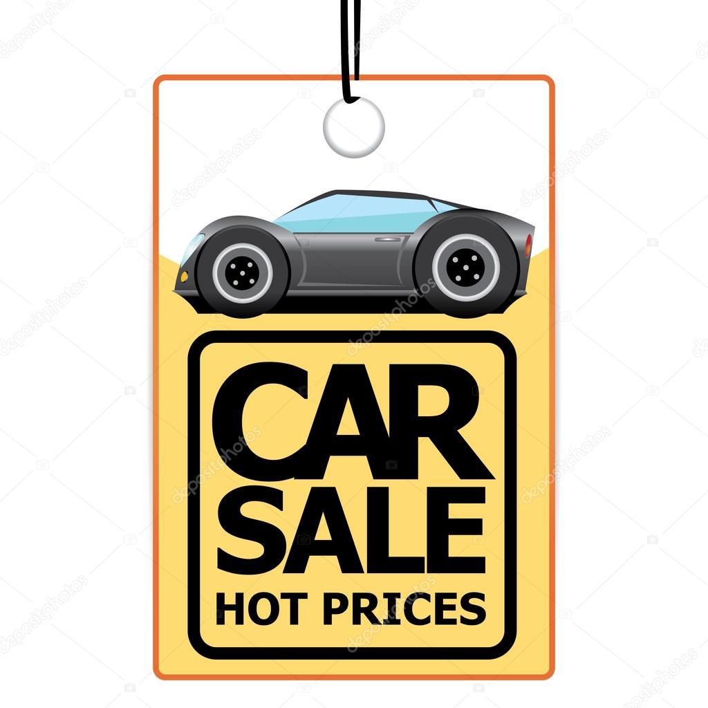 plantilla de diseño vectorial auto venta con coche — Vector de stock ...