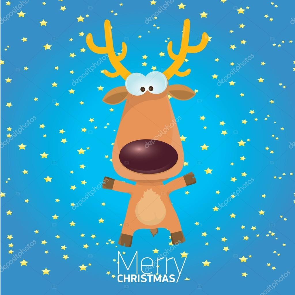cartoon christmas reindeer character u2014 stock photo zm1ter 36788543
